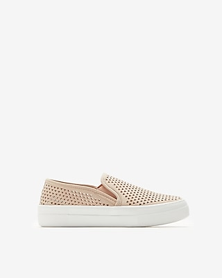 Express Womens Steve Madden Perforated Gills Sneakers