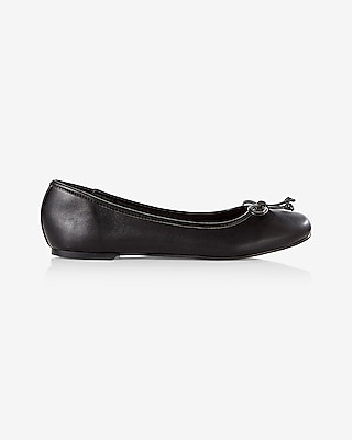 Express Womens Bow Ballet Flat