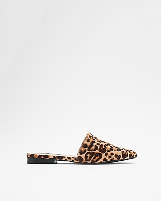 Express Womens Steve Madden Leopard Trace Mules