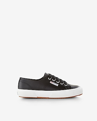 Express Womens Superga Classic Leather Sneakers