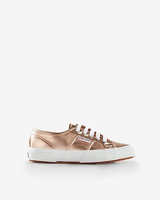 Express Womens Superga Metallic Classic Sneakers