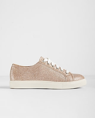 Express Womens Metallic Sneakers