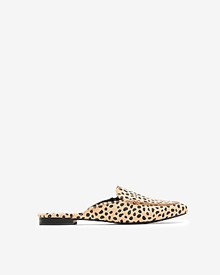 Express Womens Cheetah Print Slide Loafers