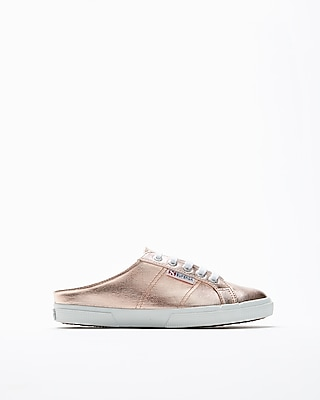 Express Womens Superga Metallic Mules