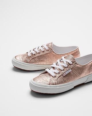 Express Womens Superga Metallic Sneakers