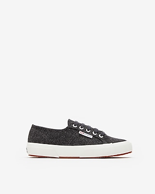 Express Womens Superga Classic Wool Sneakers