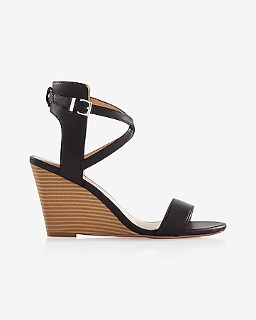strappy low wedge sandal