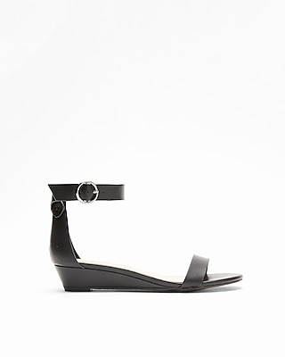 Express Womens Simple Sliver Wedge Sandals