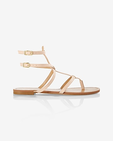 two-buckle thin strap sandal