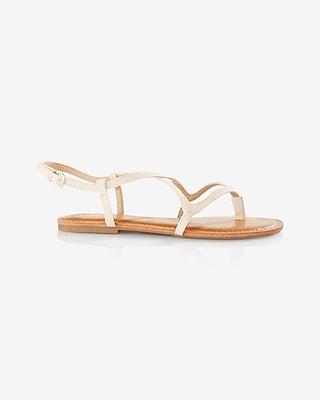 Express Womens Crisscross Sandal Neutral 6