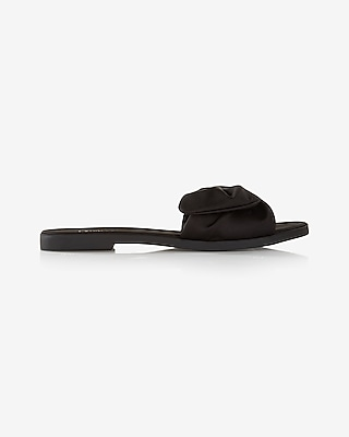 Satin Bow Slide Sandal