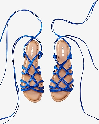 Express Womens Knot Lace-Up Sandal