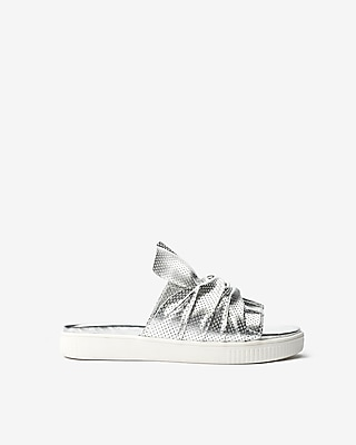 Express Womens Jane And The Shoe Jessica Silver Women's 6 Silver 6