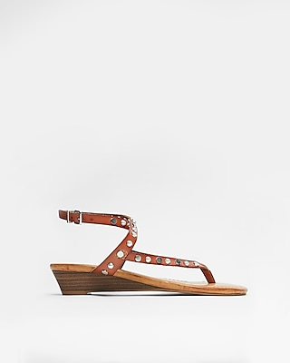 Express Womens Slim Wedge Sandals