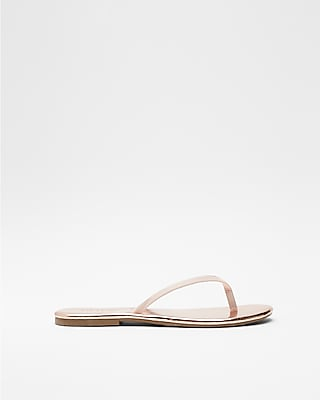 Express Womens Simple Flip Flops Gold Women's 6 Gold 6