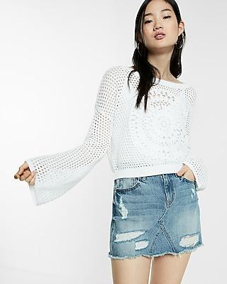 Crochet Medallion Pullover Sweater