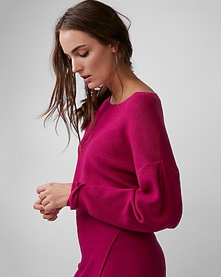 Express Womens Drop Shoulder Cropped Sweater 08269821