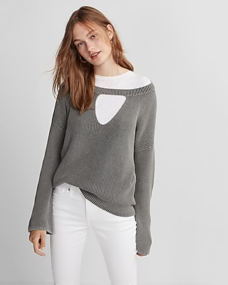 Express Womens Hi-Lo Tunic Sweater