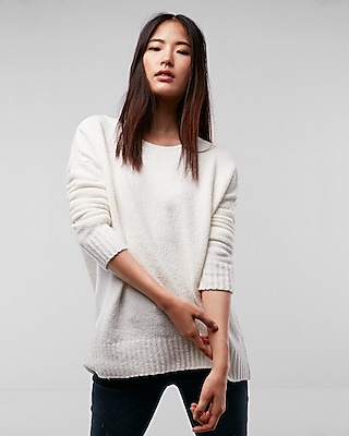 Express Womens Oversized Tunic Sweater