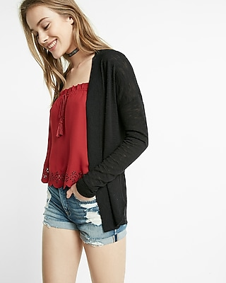 Express Womens Rounded Hem Cover-Up Black X Small