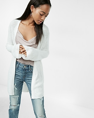 Petite Flare Sleeve Open Front Sweater