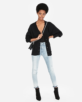 Express Womens Boyfriend Cardigan