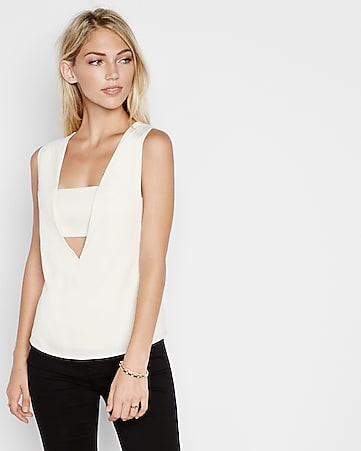 square neck bandeau tank