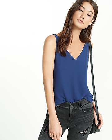 strappy back v-neck tank