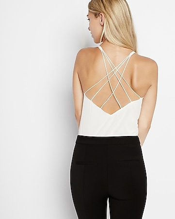 strappy v neck cami