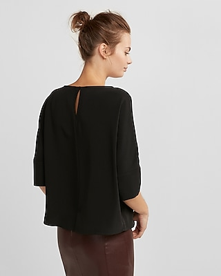 Express Womens Silky Cocoon Blouse