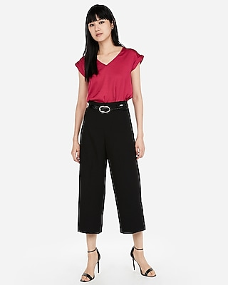 Express Womens V-Neck Gramercy Tee Red Women's Xxs Red XXS