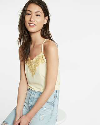 Express Womens Eyelet Embroidered Cami