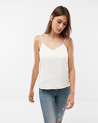 Express Womens Textured Double Layer Satin Cami