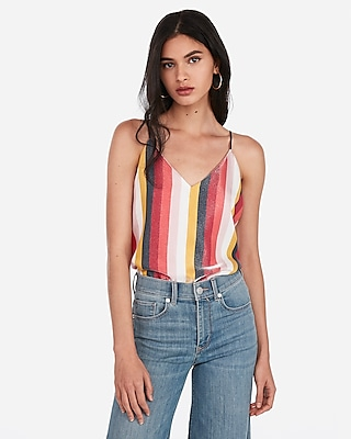 Express Womens Shimmer Striped Downtown Cami Stripe Women's Xxs Stripe Xxs