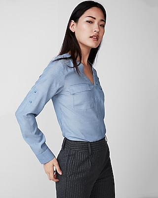 Express Womens Pindot Shirt