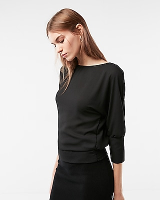 Express Womens Surplice Back Blouse