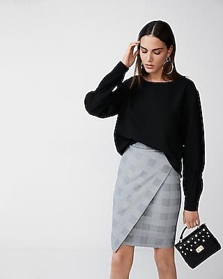 Express Womens Bateau Neck Long Sleeve Blouse