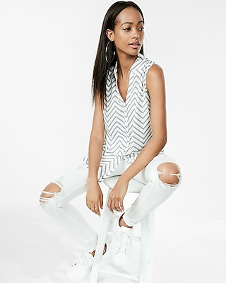Original Fit Chevron Sleeveless Portofino