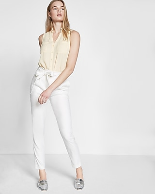 Express Womens Original Fit Sleeveless Portofino Shirt Yellow XX Small