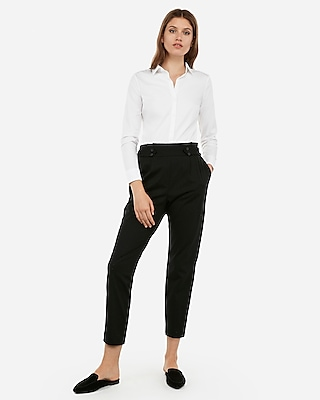 Express Womens  Slim Fit Long Sleeve Essential Shirt