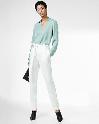Express Womens Slim Fit No Pocket Silky Portofino Shirt