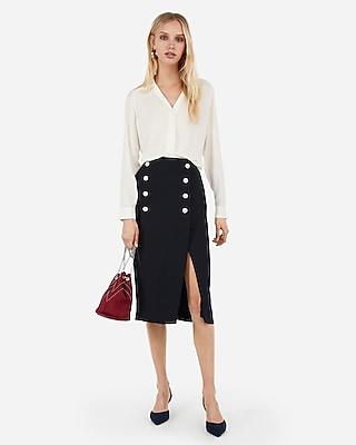 Express Womens Pajama Collar Shirt