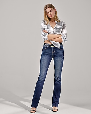 Express Womens Soft Striped Round Hem City Shirt By Express