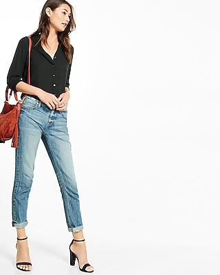 Express Womens  Slim Fit No Pocket Portofino Shirt