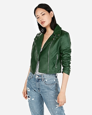 Express Womens Clean Faux Leather Moto Jacket