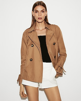 Express Womens Double Breasted Trench Coat