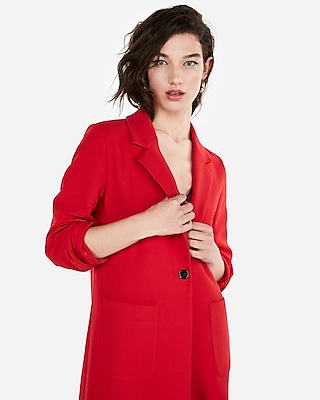 Express Womens Petite Double Weave Coat