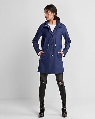 Express Womens Drawstring Raincoat