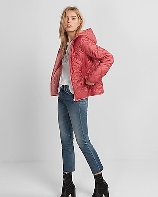 Express Womens Reversible Puffer Jacket