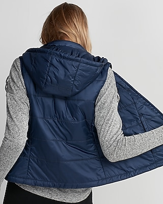 Express Womens Hooded Puffer Vest